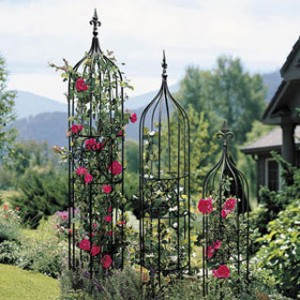 best of flower beds trellis