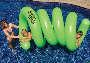 springy inflatable pool raft