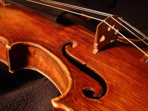 close up of violin