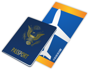passport and plane ticket