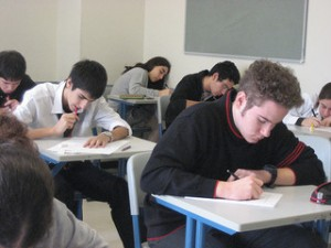 SAT test in progress