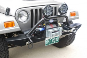 Jeep wranger with winch