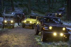 jeeps at night