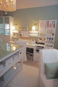 work surfaces in craft room