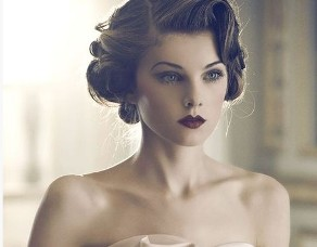 retro bride hair