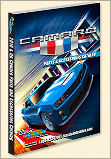 Picture of camaro parts catalog from 2010 and Up Camaro by Classic Industries catalog