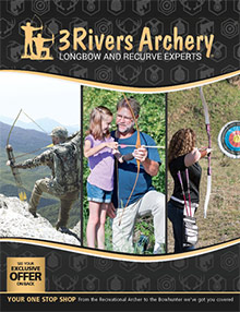 Picture of shooting arrows from 3Rivers Archery catalog
