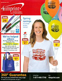 Picture of trade show promotional products from 4imprint catalog