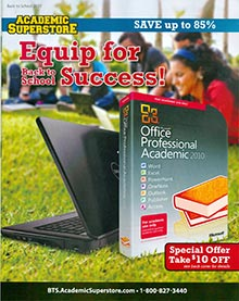 Picture of student discount software from  Academic Superstore catalog