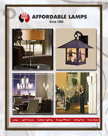 Picture of affordable lighting from AffordableLamps.com catalog