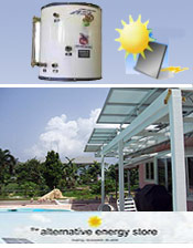 Image of efficiency water heaters from Alternative Energy Store catalog