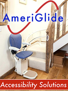Picture of home stair lifts from Ameriglide catalog