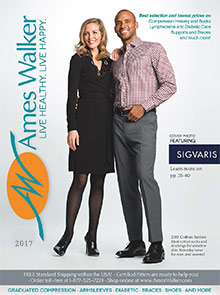 Picture of diabetic socks and shoes from Ames Walker catalog