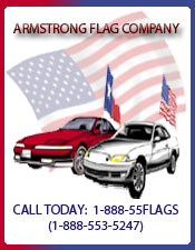 Image of window car flags from Armstrong Flag Company catalog