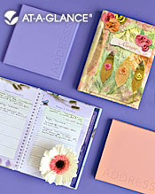 Image of decorative address books from AT-A-GLANCE � catalog