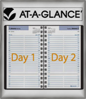 Image of daily planner notebook from AT-A-GLANCE � catalog