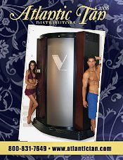 Picture of commercial tanning bed from Atlantic Tan Distributors catalog