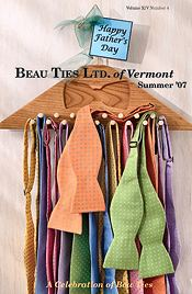 Picture of men's ties from Beau Ties Ltd. of Vermont catalog