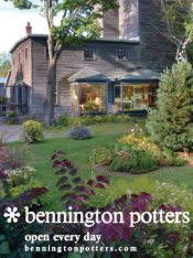 Picture of stoneware dishes from Bennington Potters catalog