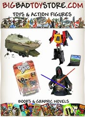 Picture of science fiction toys from Big Bad Toy Store catalog
