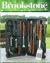 Image of outdoor grilling utensils from Brookstone catalog