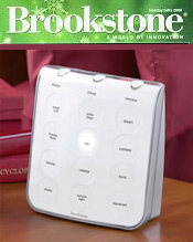 Image of relaxation sound machines from Brookstone catalog