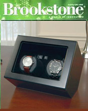 Image of watch winding machine from Brookstone catalog