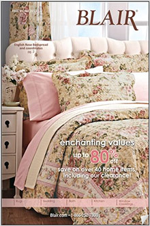 Picture of home basics from Blair Home catalog