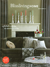 Picture of luxurious linens from Blissliving Home catalog