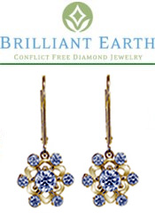 Image of 14k gold diamond earrings from Brilliant Earth catalog