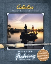 Picture of fish finders from Cabela's Master Fishing Catalog catalog