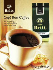 Picture of best organic coffee from Cafe Britt catalog
