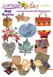 Picture of unique specialty gifts from Canvas to Clay catalog