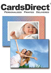 Image of creative photo cards from CardsDirect catalog