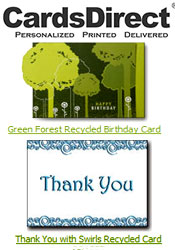 Image of recycled greeting cards from CardsDirect catalog