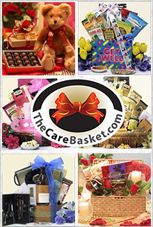 Picture of care baskets from The Care Basket catalog
