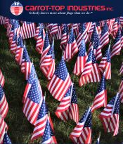Image of outdoor american flag from Carrot Top Industries catalog