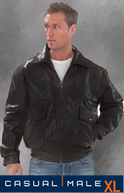 Image of tall mens leather jackets from Casual Male XL catalog