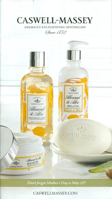 Picture of bath and body gift sets from Caswell Massey catalog