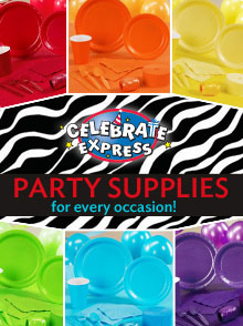 Picture of celebrate express coupon for party supplies from Celebrate Express catalog