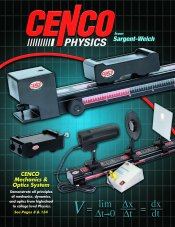 Picture of physics science projects from Cenco Physics catalog