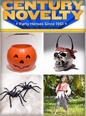 Image of halloween party things from Century Novelty catalog