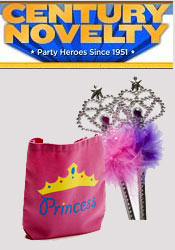 Image of princess party ideas from Century Novelty catalog