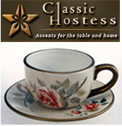 Image of teacups and saucers from Classic Hostess - DYNALOG ONLY catalog