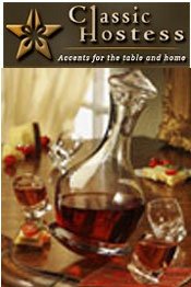 Image of glass wine decanters from Classic Hostess - DYNALOG ONLY catalog