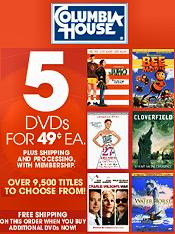 Picture of columbia house dvds from Columbia House DVD Club catalog