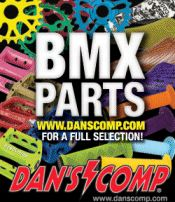 Image of bmx bike parts from Dan's Comp catalog