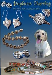 Image of dog zipper pulls from DogGone Charming catalog