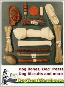 Picture of healthy dog treats from DogTreatWarehouse catalog