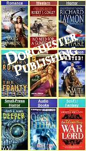 Image of horror story books from Dorchester Publishing catalog